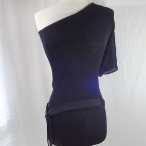 BEBE Black Over Shoulder Dress Size XS